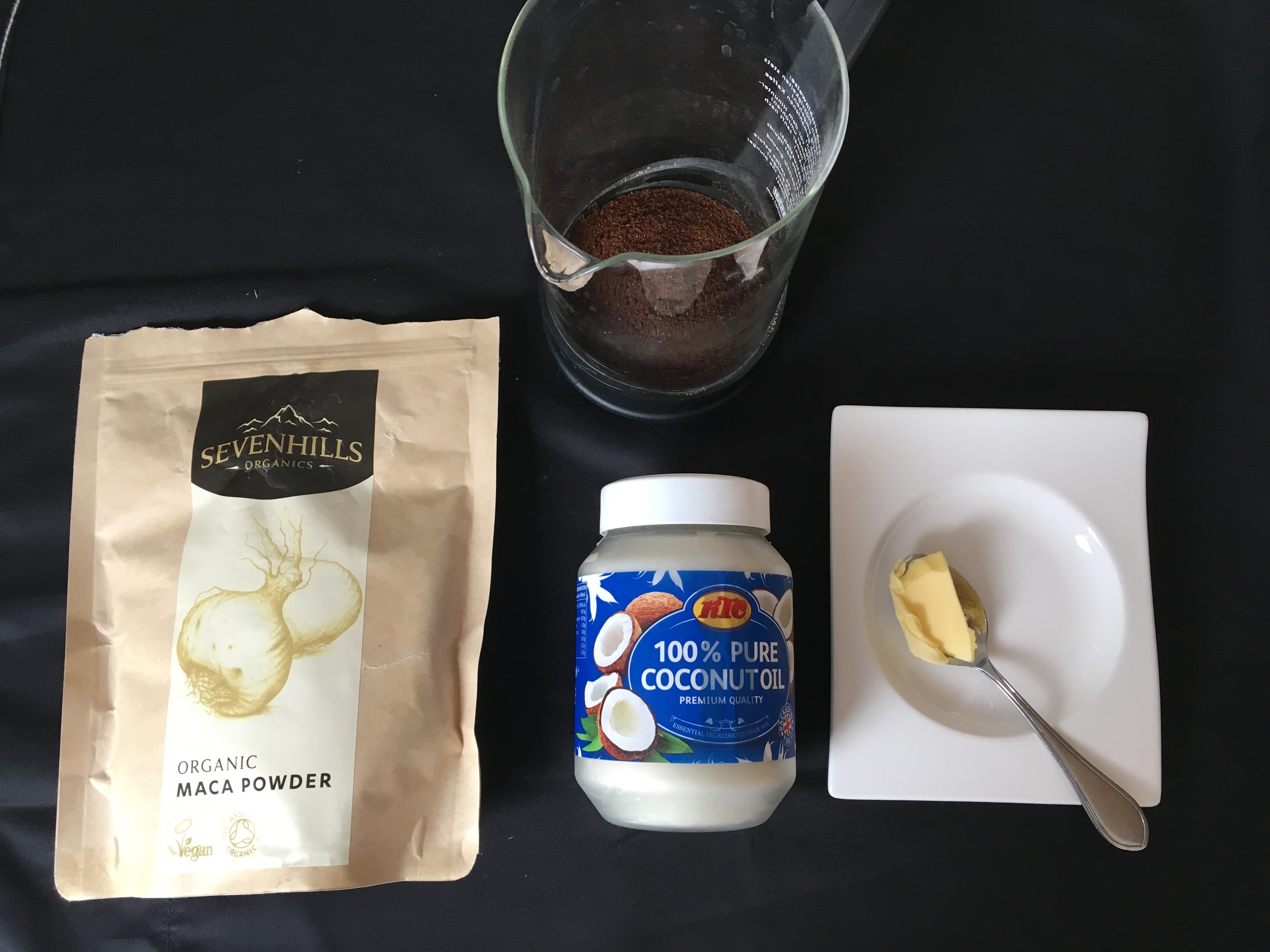 Zutaten Maca Bulletproof Coffee